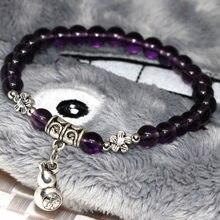 Фиолетовый гальванический Кристалл Стекло 6 мм круглые бусины