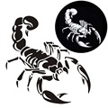 30CM Cute 3D Scorpion Car Stickers Car Styling Vinyl Decal Sticker for Cars Acessories For BMW VW Ford Toyota Honda Kia Stickers