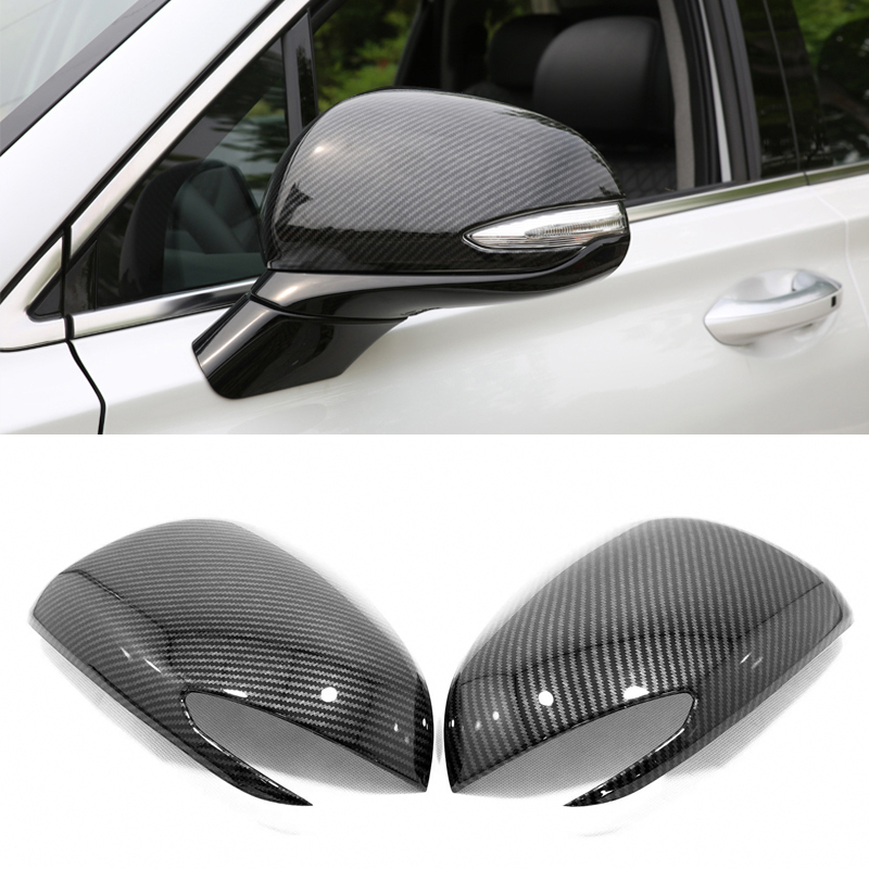 For <font><b>Hyundai</b></font> <font><b>Santa</b></font> <font><b>Fe</b></font> (TM) 2019 2020 Exterior Side Rear View Mirror Cover Rearview Mirror Decor Frame Cover Trim 2PCS <font><b>Accessories</b></font> image