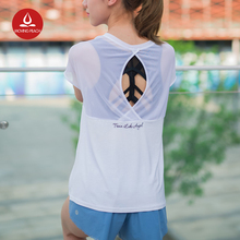 Yoga Elastic Gym Shirts Women Fitness Clothing Sport Sweatshirts For Female Hollow Out Mesh Blouse Training