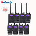 8 pcs 8W Walkie Talkie Retevis Black RT5 128CH 2500mAh Battery VHF UHF Dual Band FM Portable 2 Way Radio Communicator In Moscow