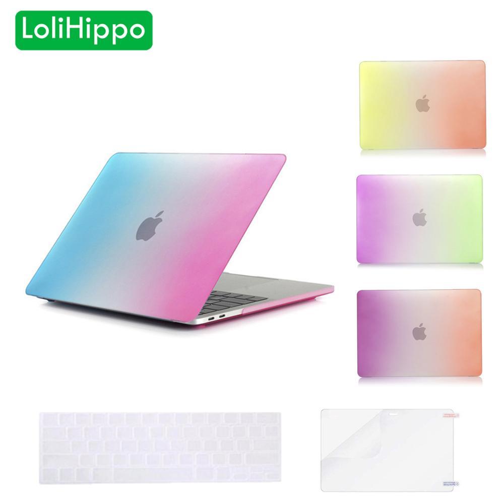 LoliHippo Rainbow Notebook Shell Case for font b Apple b font font b MacBook b font