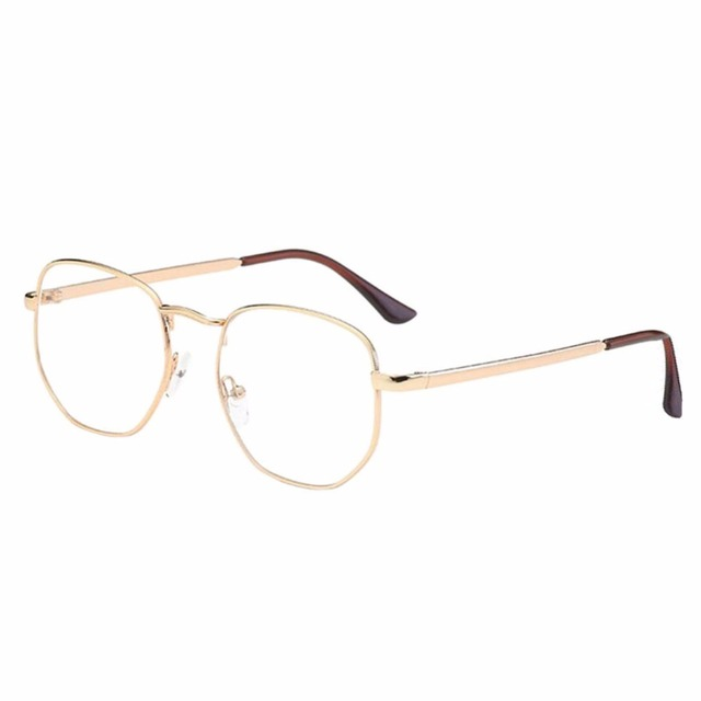 6dda52a5062 Vintage Retro Big Metal Frame Nearsighted Glasses Short Sight Myopia  Eyeglasses (These are not reading glasses) Gold