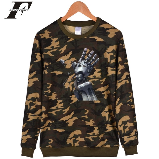 Fullmetal Alchemist anime printed hoodie Sweatshirt men women Winter moletom  tracksuit Plus size Casual Pullover