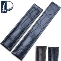Pesno Suitable For TAG Heuer Carrera Alligator Skin Leather Watch Band 19mm 20mm 22mm Crocodile Leather