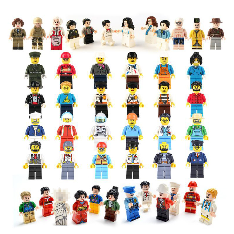 12pcslot  Action Figures Building Blocks Figures Brick DIY Toys Compatible Legoed  Figures Police Soldier 24 Occupations For Gift (10)