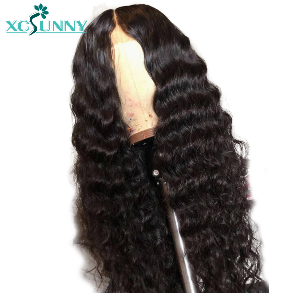 xcsunny Preplucked Full Lace Human Hair Wigs With Baby Hair Depp Wave Brazilian Remy Hair Full Lace Wig Bleached Knots Glueless