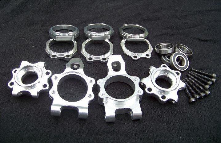 baja CNC alloy rear hub carrier set silver for HPI rovan KM baja alloy rear lower control arm 2pc