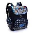 2016 Мальчиков школьные сумки темно-синий Паук Доспехи дети ортопедические рюкзак высокое качество bolsas mochila infantil первичная 1-5
