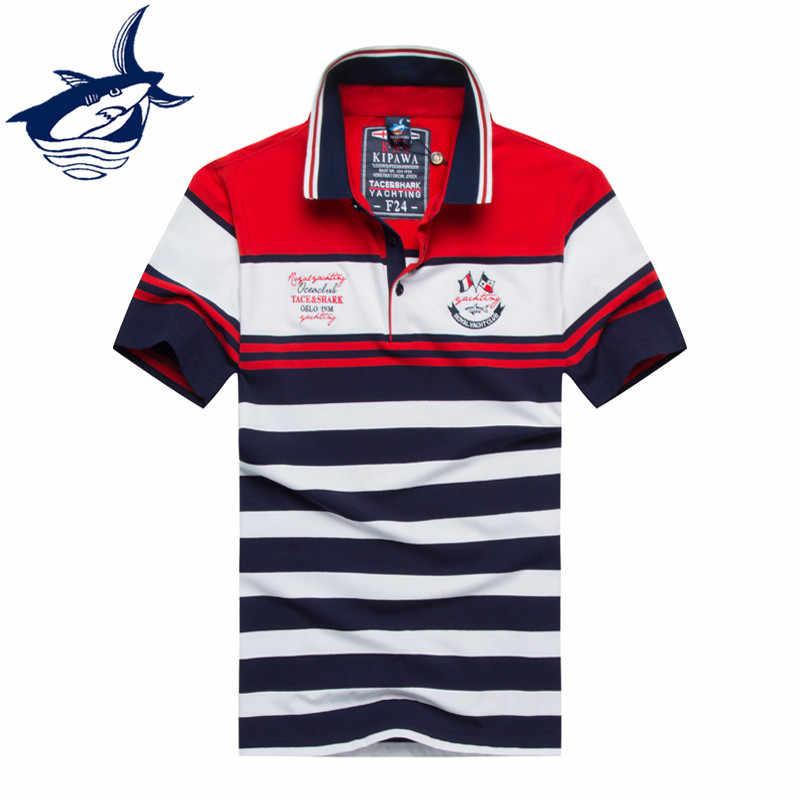 b488cf86ef90 Новая летняя Мужская одежда Повседневная брендовая рубашка-поло модный  известный бренд Tace Shark Camisa Masculina