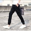Hombres pantalones casual pantalones de la cremallera cerrada pierna pies pantalones hombre que cultivan hombres pantalones de harén de compresión de la pierna firmeza / 28-33