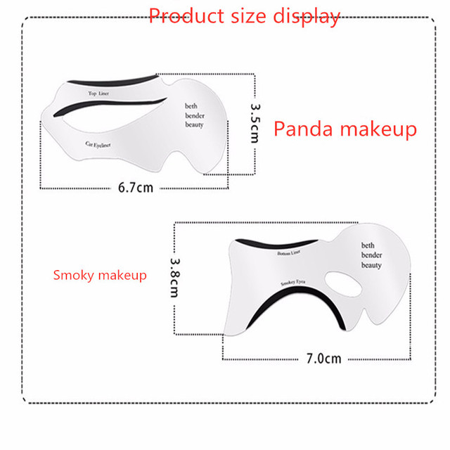 2pcs Pro Eyeliner Stencils Winged Eyeliner Stencil Models Template Shaping Tools Eyebrows Template Card Eye Shadow Makeup Tool 3
