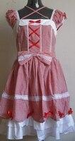 En línea vestido de lolita ropa cosplay ropa de tela de algodón envío rápido harajuku calle alternativa más lindo