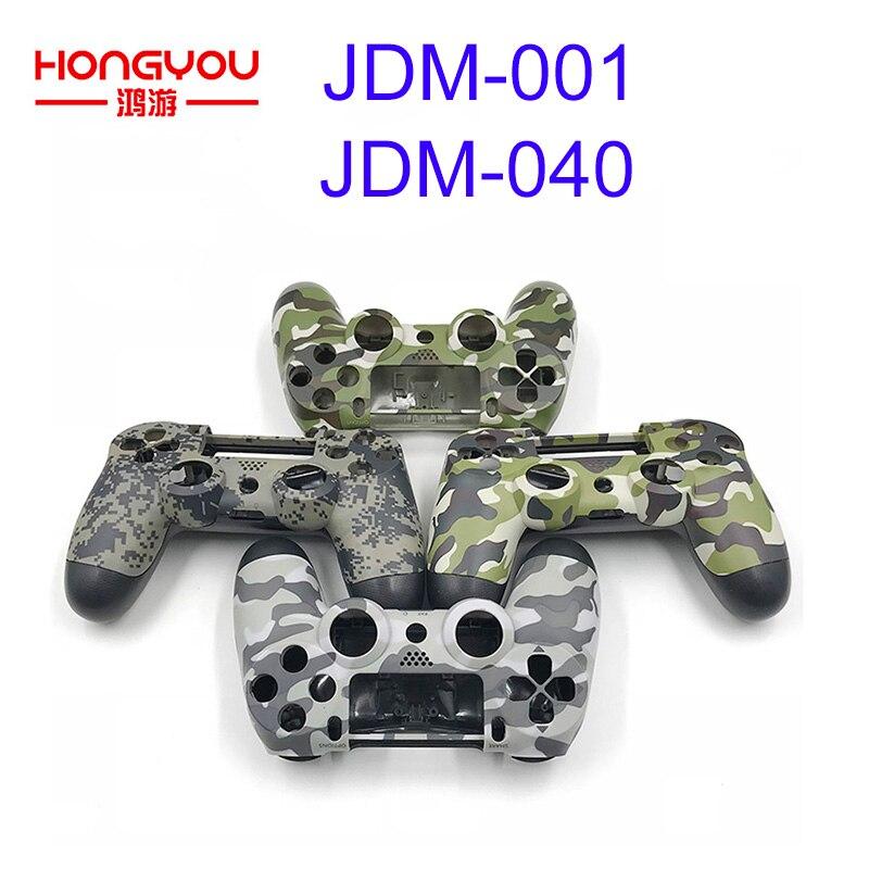 5 sztuk kamuflaż obudowa obudowa do Sony PS4 Pro kontroler bezprzewodowy z przodu z tyłu przypadku JDM/S 040 JDM/S 001 górna dolna pokrywa w Części zamienne i akcesoria od Elektronika użytkowa na  Grupa 1