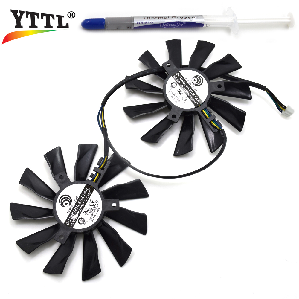 Power Logic 95mm PLD10010S12HH DC 12V 0.40A 4Pin 6Pin For MSI R9 290X 280X 270X R7 260X Graphics Card Cooler Fan computador cooling fan replacement for msi twin frozr ii r7770 hd 7770 n460 n560 gtx graphics video card fans pld08010s12hh