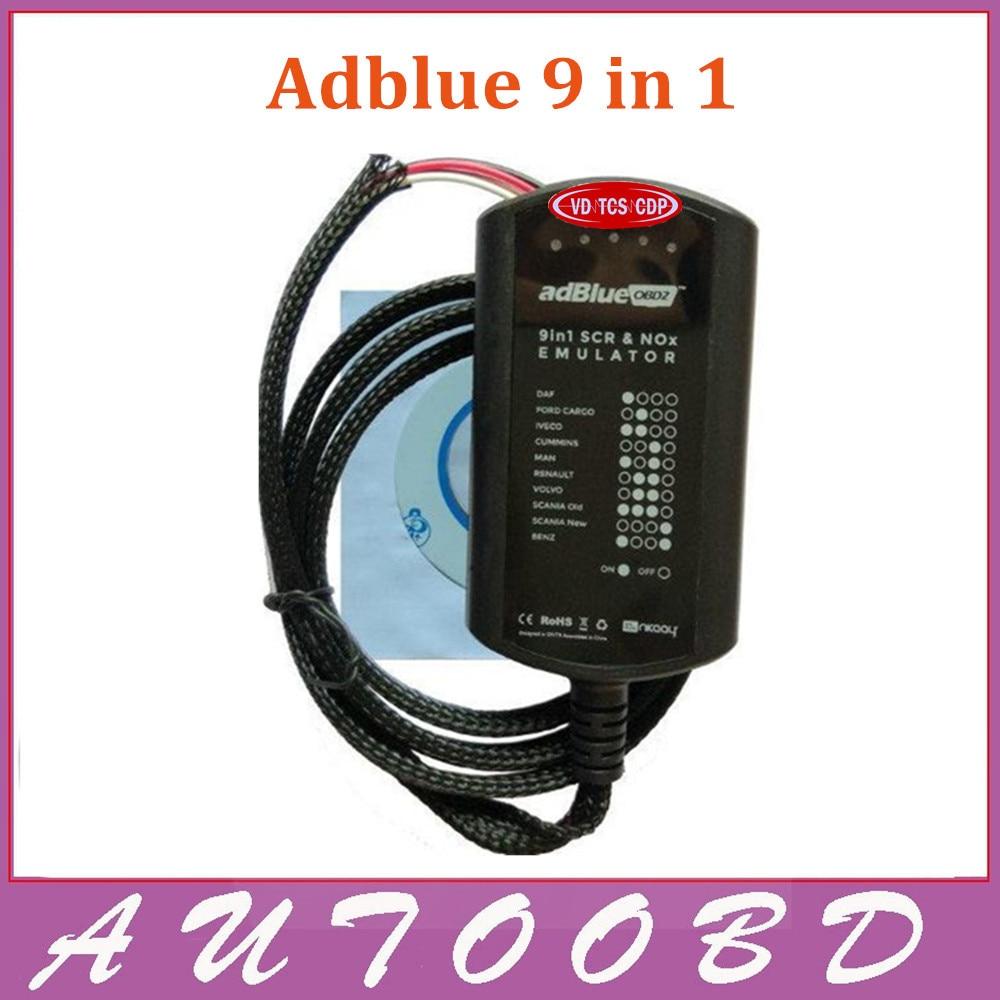 10PCS/Lot +DHL Freeship!!! Newest Adblue 9 in 1 Universal Adblue Emulator NOT NEED ANY SOFTWARE 9in1 Truck AdBlue Emulation Box