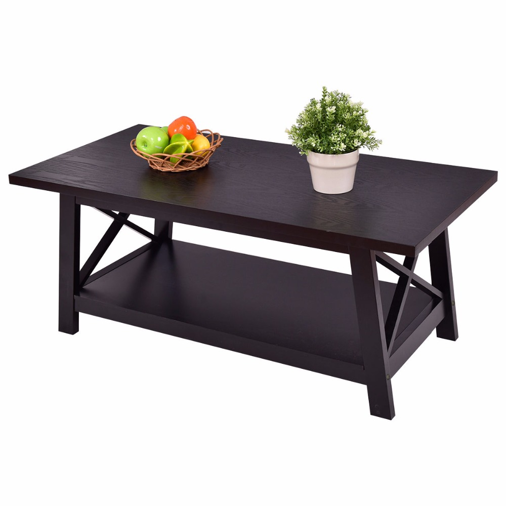 Giantex Coffee Table Rectangle Cocktail Side End w/ Storage Shelf Living Room Furniture Home Furniture HW55016 цена