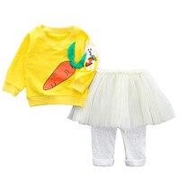 V-TREE Neonate Insiemi Dei Vestiti del bambino bambino Felpa + Tutu pannello esterno del Vestito di Mutanda Imposta Per La Ragazza Del Bambino Abbigliamento Primavera Infantile 9 M-24 M