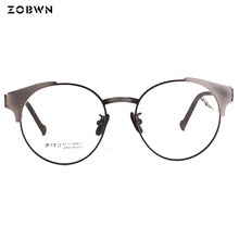 1fa87f512 Óculos Retro Rodada Moda Óculos Frame Ótico óculos de nerd de computador  Computador Olho Óculos de Armação lentes opticos quadro.