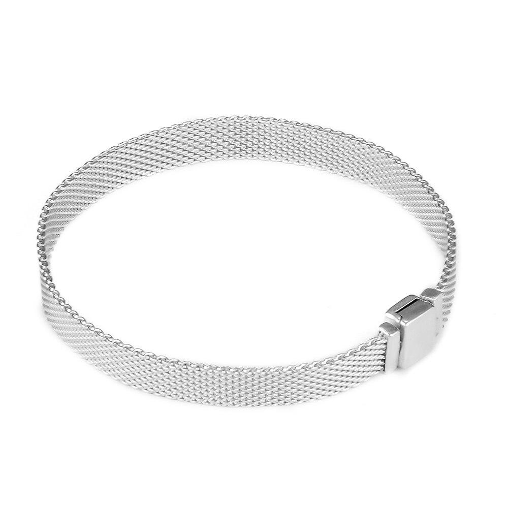 100% 925 Sterling Silver Reflexions Bracelet for Women Fit Charm Beads SLB062100% 925 Sterling Silver Reflexions Bracelet for Women Fit Charm Beads SLB062