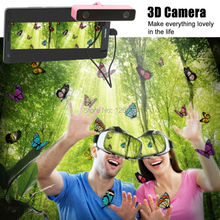 2016 3D caja caja auricular + 3d de realidad virtual vr vr + caja de la cámara para xiaomi redmi note 3 vr samsung modile teléfono