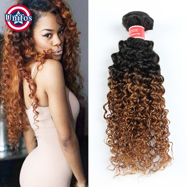 Peruvian jerry curly ombre hair extensions 3 bundles ombre human peruvian jerry curly ombre hair extensions 3 bundles ombre human hair weave honey brown virgin hair urmus Images