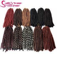 Sallyhair, 14 дюймов, 70 г/упак., вязанные крючком косички, цвет пианино, синтетические косички, для наращивания волос, афро, прически, мягкие, искусственные, толстые, полные
