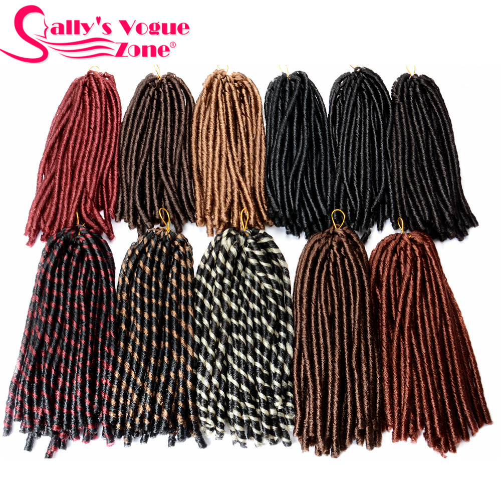 Sallyhair 14inch 70g/pack Crochet Braids Piano Color Synthetic Braiding Hair Extension Afro Hairstyles Soft Faux Locs Thick Full