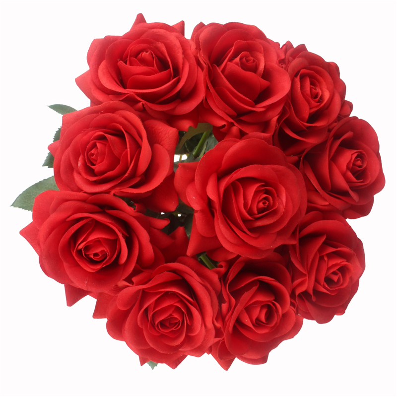 JAROWN Artificial Real Touch Hand Feel Rose Flowers For Valentine`s Day Preparation Wedding Decoration Home Decor (32)