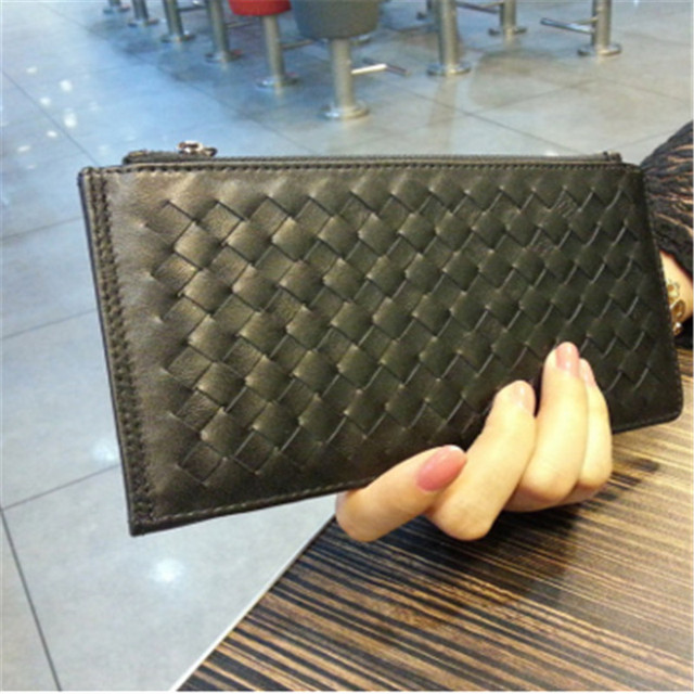 New cards leather credit card wallet lambskin woven around wallet card package cards Pack ultra thin men and women clipASL2047