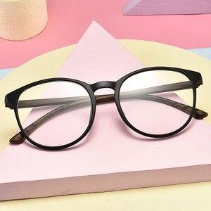 Image 3 - Transparente gläser Runde Brille Frauen TR90 Optische Auge Rahmen für männer Rezept Ultraleicht rahmen 643