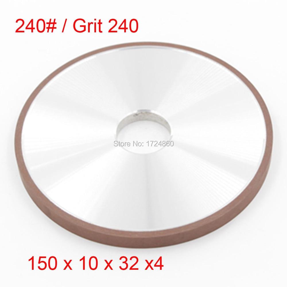 ФОТО Great Sale 150mm Diamond Grinding Wheel 240# Resin Plain Wheel