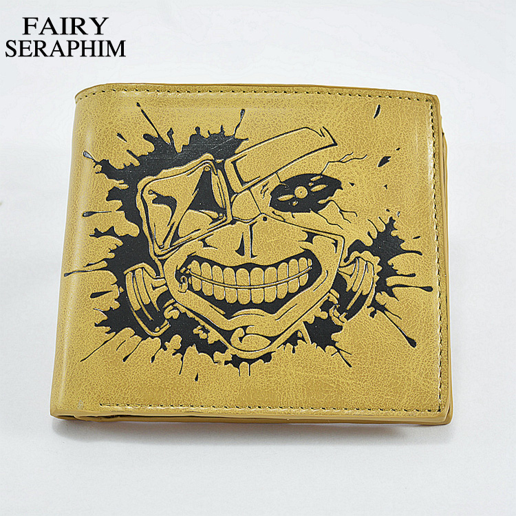 FAIRY SERAPHIM Cartoon Wallets 2015 Hot Sell Promotioal Japanese Anime Character Cosplay Tokyo Ghoul Purse Standard Pu Wallet