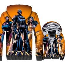 New Fashion Mens Clothing 2019 Brand Winter Thick Fleece Hoodies For Men 3D Superhero Anime Sweatshirts Zip Up Hipter Jacket Top