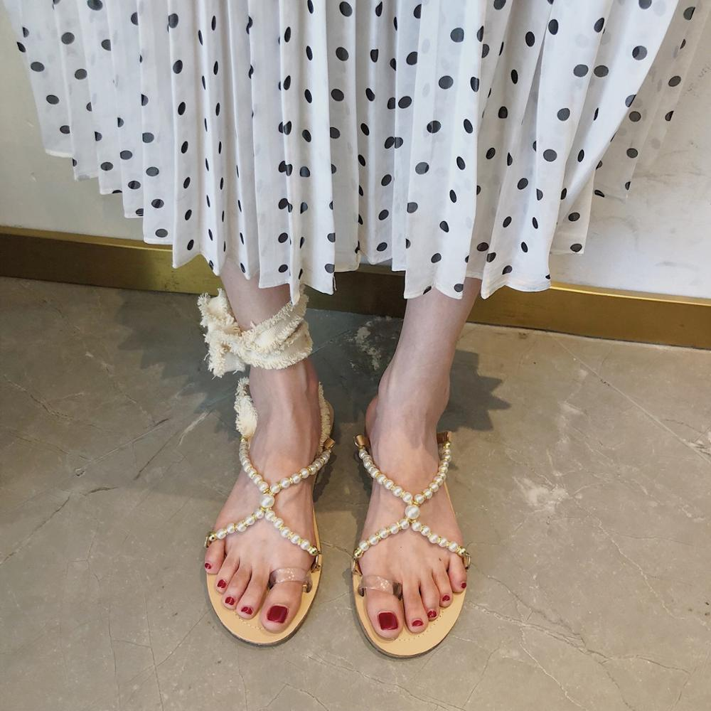 Sandals Women Fashion Shoes Summer Slippers Flat Outside Sweet Beach Vacation Soft Comfortable