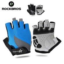 цена на ROCKBROS Road Bike Gloves Half Finger Short Finger Gloves Cycling Sport Gloves Anti-skidding Gloves