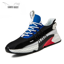 цена на Sneakers Men 2019 Air Mesh Breathable Lace Up Summer Men Trainers Sports Shoes Outdoor Walking Casual Running Shoes for Men