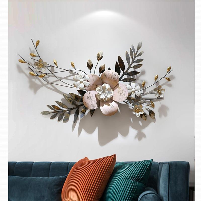 Modern Wall 3D Simulação Flores Da Planta de Ferro Forjado Pintura Mural Da Parede De Artesanato Decoração Decoração de Casa Parede Da Varanda Pendurado Ornamento da Arte R1274