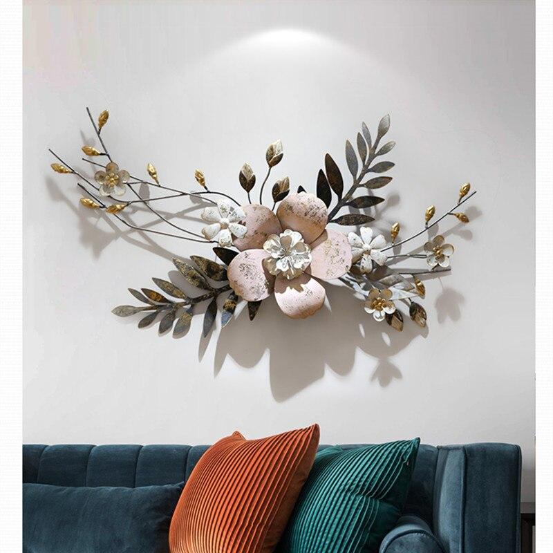 Moderne Muur Smeedijzeren 3D Simulatie Bloemen Plant Muurschildering Ambachten Decoratie Thuis Veranda Muur Opknoping Ornament Art R1274