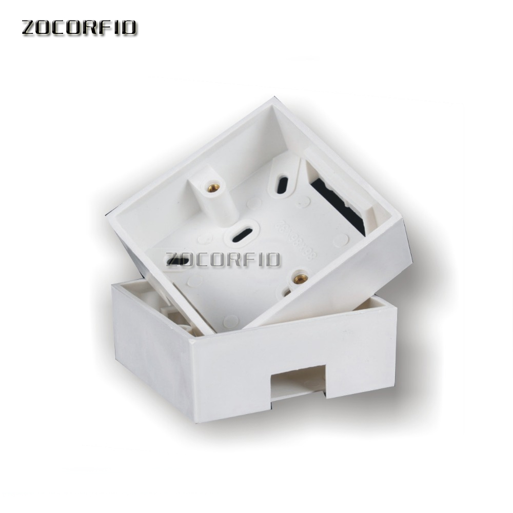 Buy Free Shipping 10pcs 86x86mm Wall Mount Junction Switch And Outlet In The Same Box Boxflush Plastic Back For Mansory From Reliable