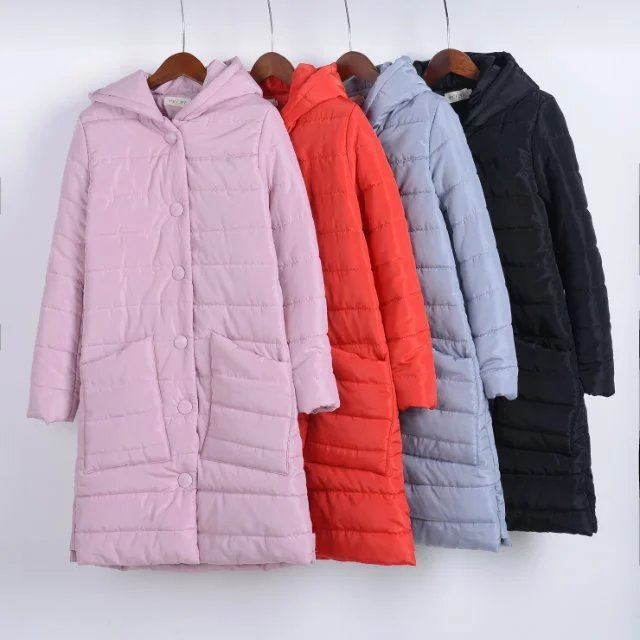 XXL 4colors 2016Women's winter parkas long thick warm outwear Women Parka hooded plus size cotton down &parkas Female Coat Parka