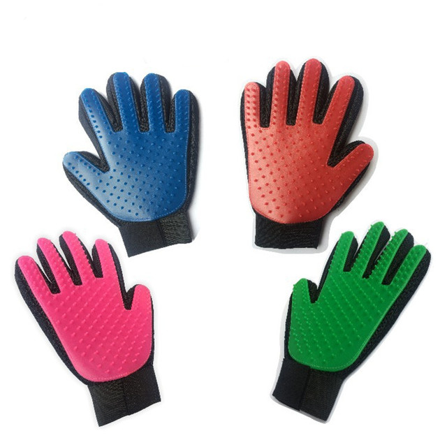 Pet Silicone True Glove Touch Deshedding Brush Cleaning Glove For Dog Cat Gentle Efficient Massage Grooming Pet Dog Accessories