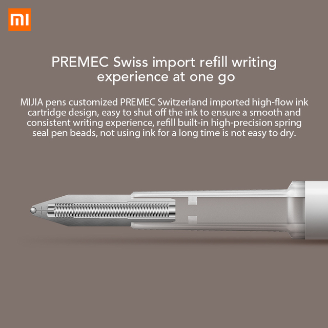 Xiaomi Mijia PEN With 0.5mm Swiss Refill 143mm Rolling Roller Ball Mi Xiomi Sign Signing Ballpoint 2