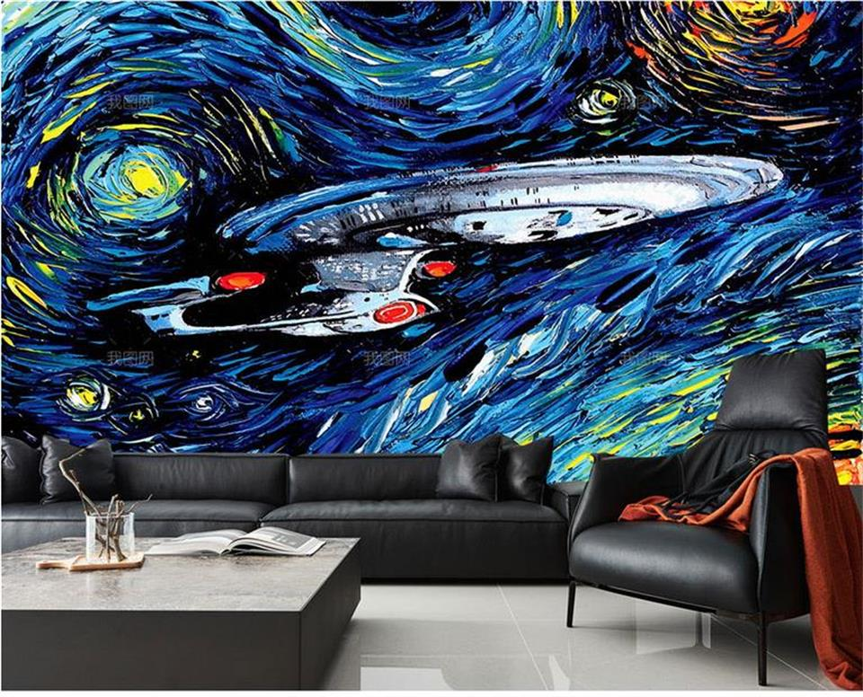 Superb ... 3d Wallpaper Photo Wallpaper Custom Home Decor Livingroom Mural The Star  Trek Painting Sofa TV Background ... Part 27