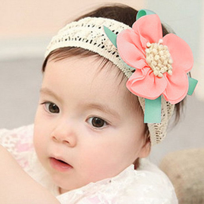 Hot SALE Infant Baby girl headband lace Flower Hair Band Headband Elastic Hair Headwear for girl hair accessories 3pcs lot lovely printed floral fabric bow headband striped dots knot elastic nylon hair band for girl children headwear