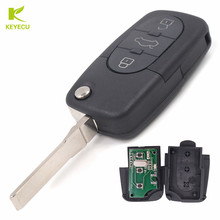 KEYECU 3 Button Folding Remote Control key Fob 433.92Mhz With ID48 Chip For Audi TT RS6 A6 Allroad Quatro 4D0 837 231 K(China)