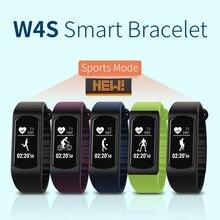 Спортивные Smart Band W4S браслет сердечного ритма сна Мониторы Фитнес трекер Водонепроницаемый напоминание умный Браслет для iOS и Android