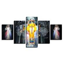 5 pcs,Full Square 5D DIY Diamond Painting Christian religion cross Jesus Full diamond Embroidery Cross Stitch Rhinestones Y2471