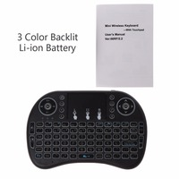 Rechargeable 3 Backlits 2.4GHz Wireless i8 Keyboard Touchpad Fly Air Mouse Keyboards