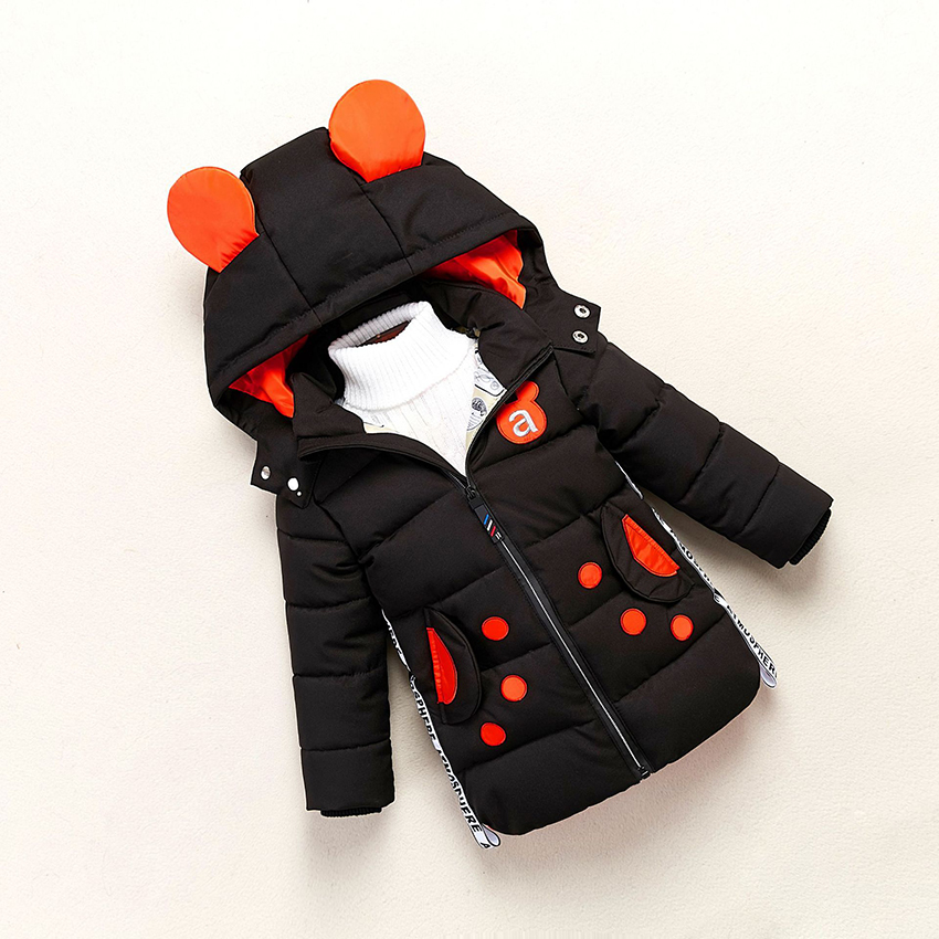 b31913f609ca TWINSBELLA New Baby Down Jacket Boys Cute Animal Hooded Clothes Kids ...